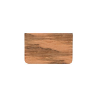 Natural Eucalyptus Wood Grain Look Business Card Holder