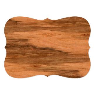Natural Eucalyptus Wood Grain Look Card