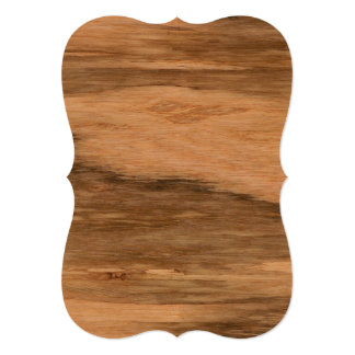 Natural Eucalyptus Wood Grain Look Card