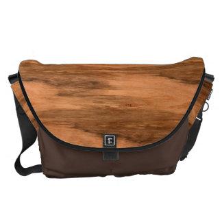 Natural Eucalyptus Wood Grain Look Courier Bag