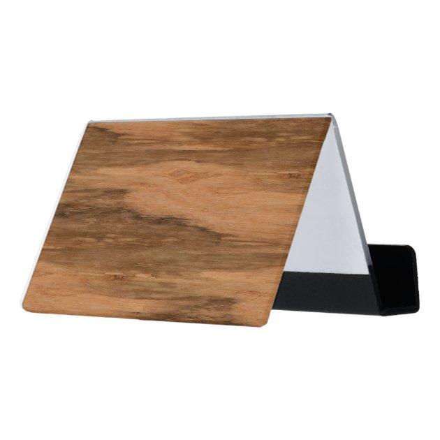 Natural Eucalyptus Wood Grain Look Desk Business Card