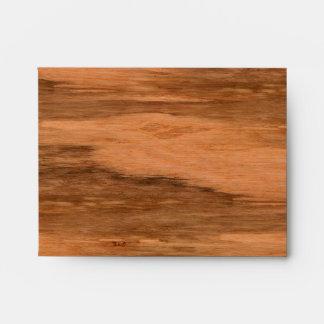 Natural Eucalyptus Wood Grain Look Envelopes