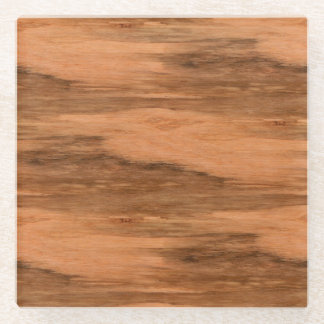 Natural Eucalyptus Wood Grain Look Glass Coaster