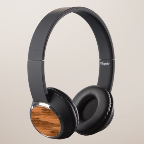 Natural Eucalyptus Wood Grain Look Headphones