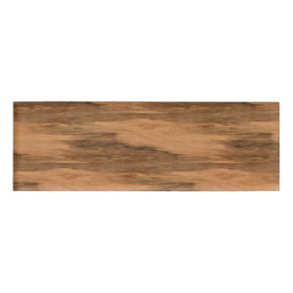Natural Eucalyptus Wood Grain Look Name Tag