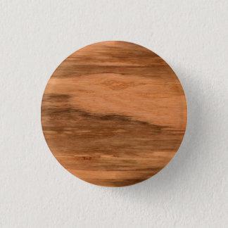 Natural Eucalyptus Wood Grain Look Pinback Button