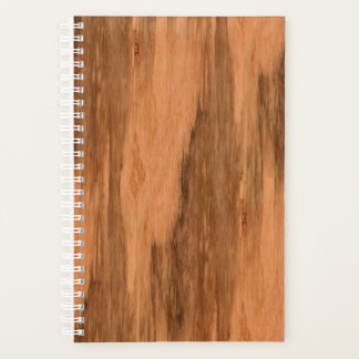 Natural Eucalyptus Wood Grain Look Planner