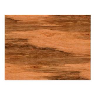 Natural Eucalyptus Wood Grain Look Postcard