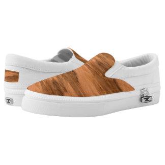 Natural Eucalyptus Wood Grain Look Printed Shoes