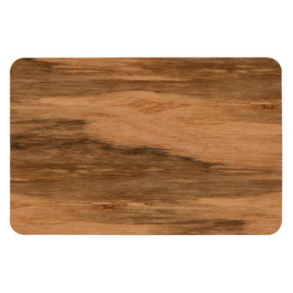 Natural Eucalyptus Wood Grain Look Rectangular Photo Magnet