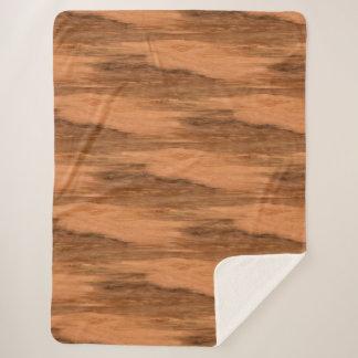 Natural Eucalyptus Wood Grain Look Sherpa Blanket