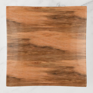 Natural Eucalyptus Wood Grain Look Trinket Trays