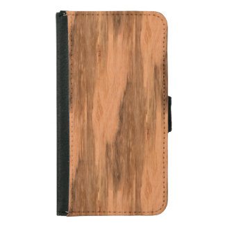 Natural Eucalyptus Wood Grain Look Wallet Phone Case For Samsung Galaxy S5