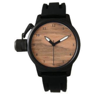 Natural Eucalyptus Wood Grain Look Wristwatches