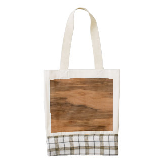 Natural Eucalyptus Wood Grain Look Zazzle HEART Tote Bag