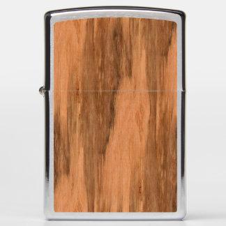 Natural Eucalyptus Wood Grain Look Zippo Lighter