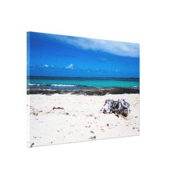 Beach Themed Natural Exotic Beach&Ocean Canvas Print