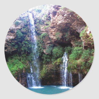 Natural Falls Classic Round Sticker