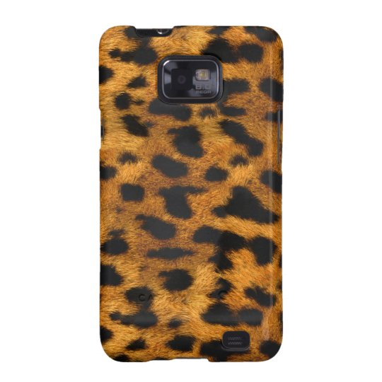 Natural Faux Leopard Fur Samsung Galaxy Case