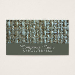 Natural fiber office products supplies zazzle natural fiber upholsterer business card reheart Images