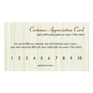 Natural Fibers Customer Appreciation Card