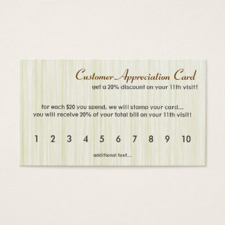 Natural fiber business cards templates zazzle natural fibers customer appreciation card reheart Images