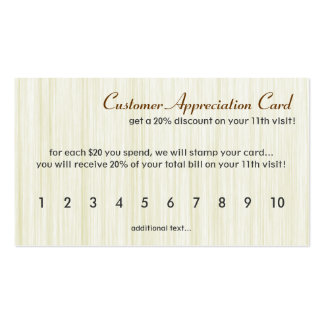 Natural Fibers Customer Appreciation Card Double-Sided Standard Business Cards (Pack Of 100)
