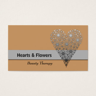Natural Flower Heart Trendy Custom Business Cards