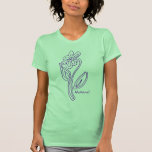 Natural Flower Line Art T-Shirt