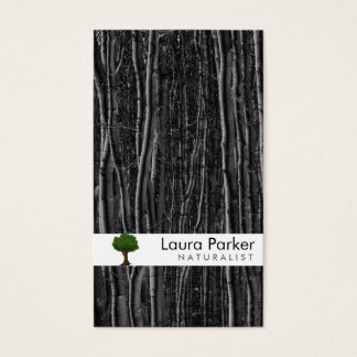 Natural Forest Black Tree Care Landscape Lawn Business Card