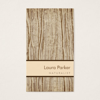 Natural Forest Brown Tree Care Landscape Lawn Business Card