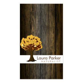 Natural Forest Gold Tree Wood Care Landscape Lawn Double-Sided Standard Business Cards (Pack Of 100)