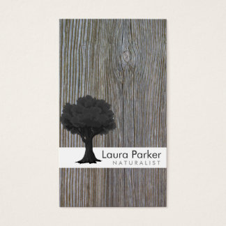 Natural Forest Gray Tree Care Landscape Lawn Business Card