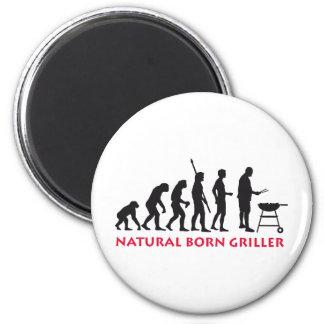 Natural fount Griller 2C 2 Inch Round Magnet