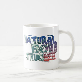 natural fount of the trucker USA flag more trucker Coffee Mug