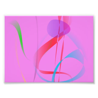 Natural Free lines on Cool Pink Art Photo