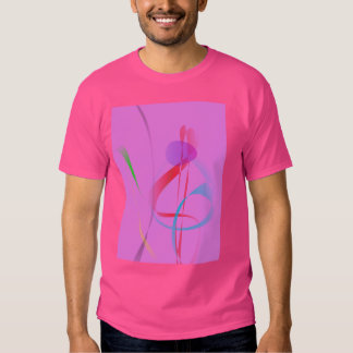 Natural Free lines on Cool Pink Tee Shirt
