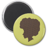 Natural 'Fro 2 Inch Round Magnet