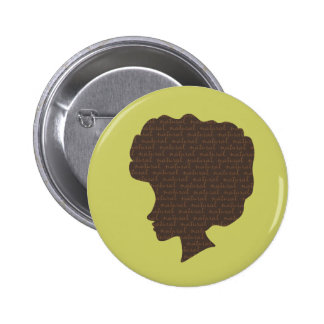 Natural 'Fro 2 Inch Round Button