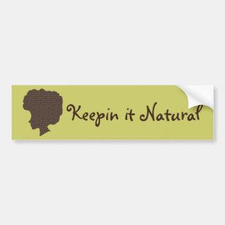 Natural 'Fro Car Bumper Sticker