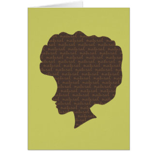 Natural 'Fro Greeting Cards