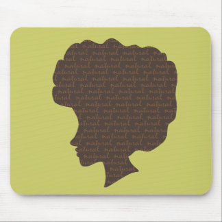 Natural 'Fro Mouse Pad