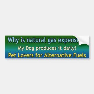 Natural Gas Dog Bumper Sticker