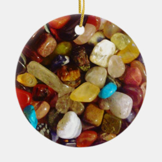 Natural Gemstones Ceramic Ornament