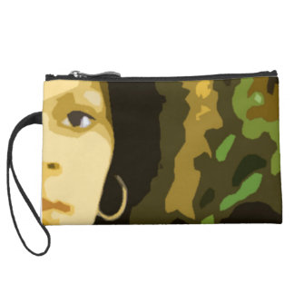 """Natural Girl"" Sueded Mini Wristlet"