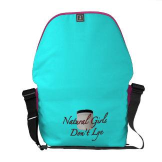 Natural Girls Don't Lye Bright Messenger Bag