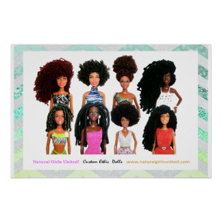 Natural Girls United Poster - Blue & Yellow