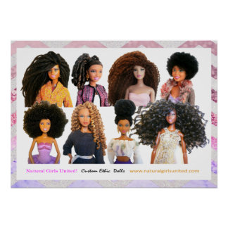 Natural Girls United Poster - Pink & Purple