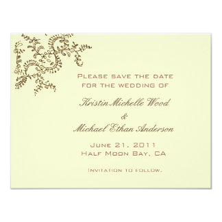 Natural/Gold Save the Date Card