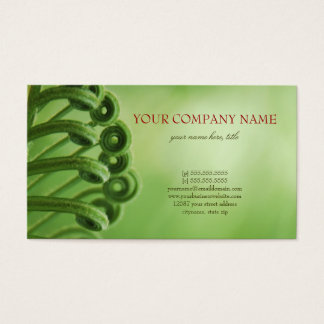 Natural, Green Business Card